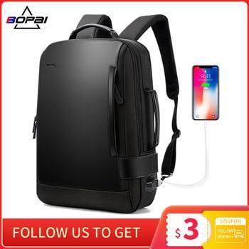 15,6 hüvelykes notebook hátizsák fekete, kontrasztos bőr USB töltővel