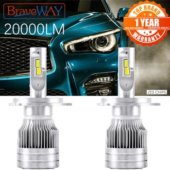BraveWay LED autós fényszórók H1 H4 LED H7 H11 HB3 HB4 H8 ködlámpa Auto H4 motorkerékpár fény 12V