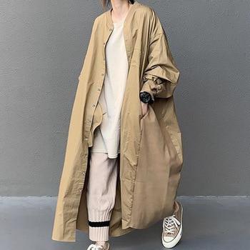 Koreai hosszú irodai divatos viselet hosszú ujjú kabát