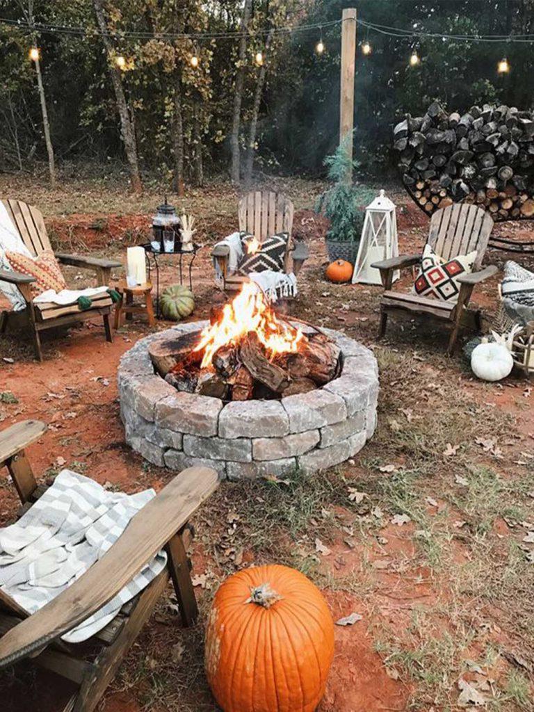 kerti tűzrakó grill