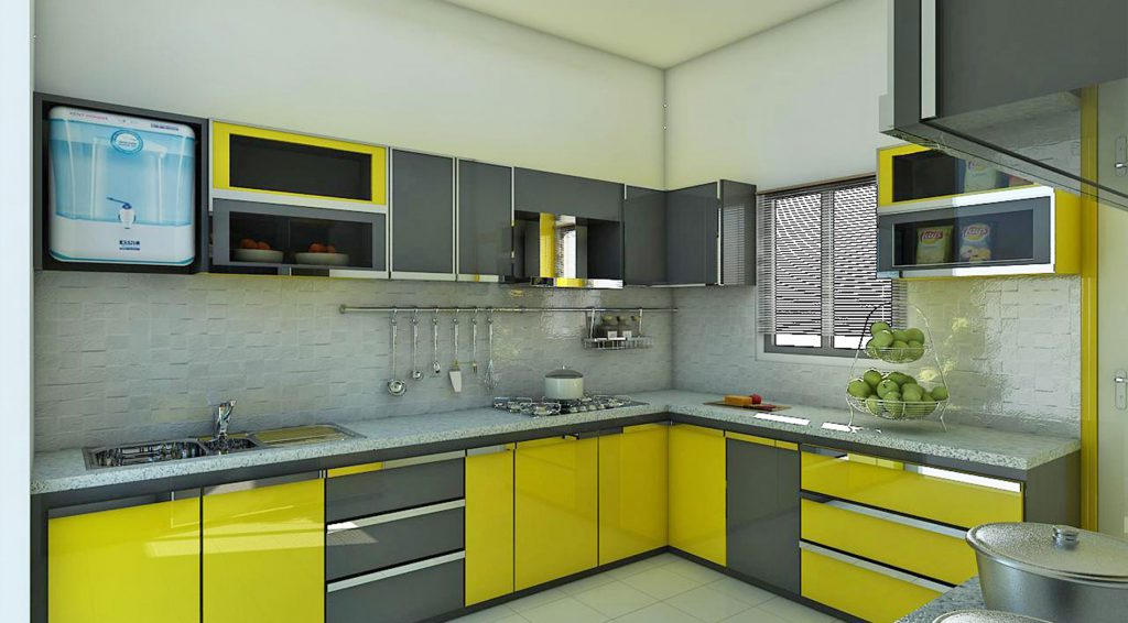 merész színű konyhabútor komplementer színnel
