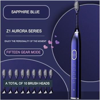 Sonic elektromos fogkefe 10 üzemmódú, USB újratölthető
